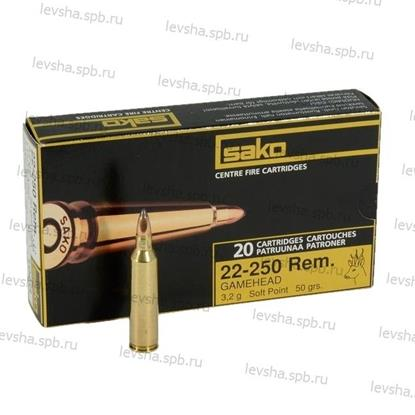 22-250Rem Sako, Gamehead Soft Point, 3,2g 50gr 0